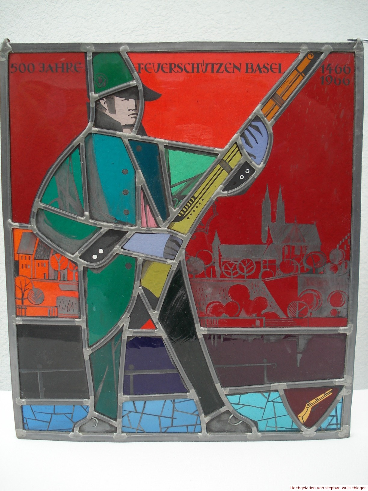 Wappenscheibe 500 Jahre Feuerschützen