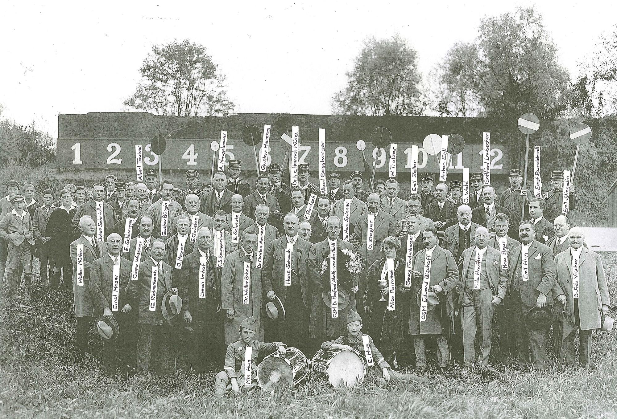 Legende zu Bild Standweihe 1930