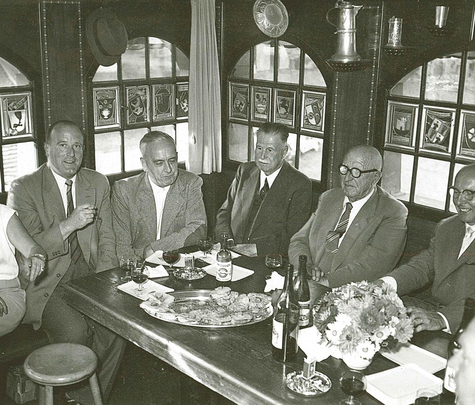 Im Türmli 1958 zum 80. Geburtstag von Ernst Moser