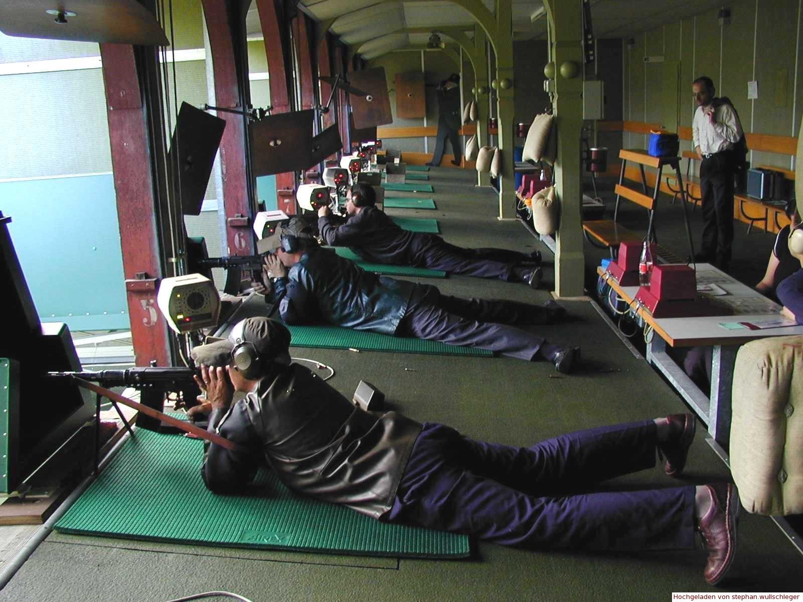 Schiessbetrieb 300m-Schiessstand der Feuerschützen