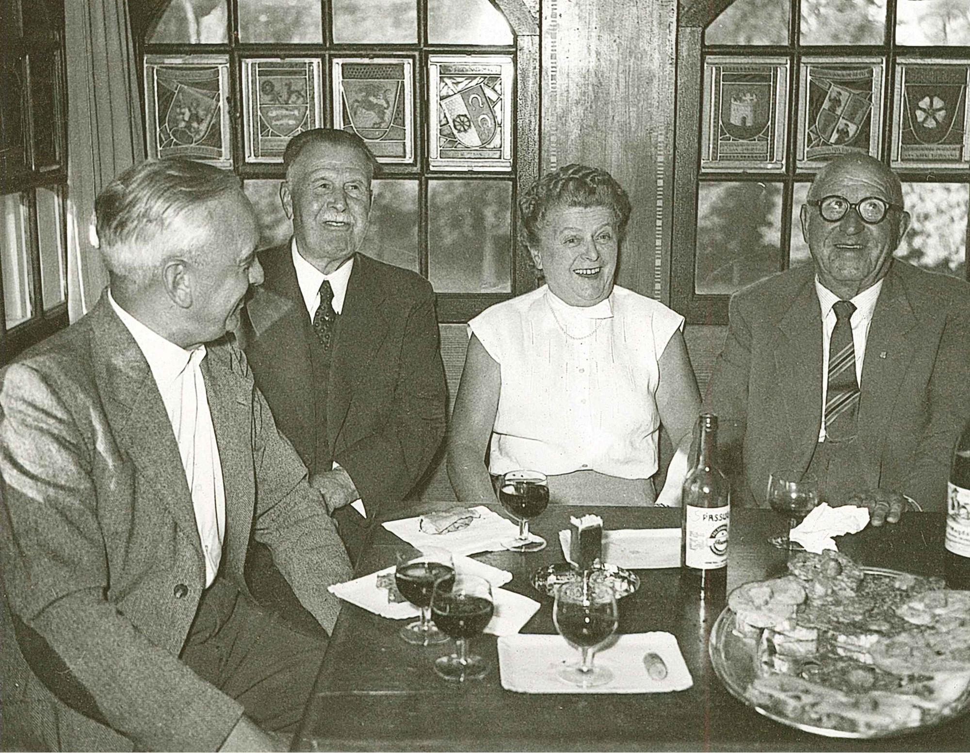 Im Türmli 1958 zum 80. Geburtstag von Ernst Mose