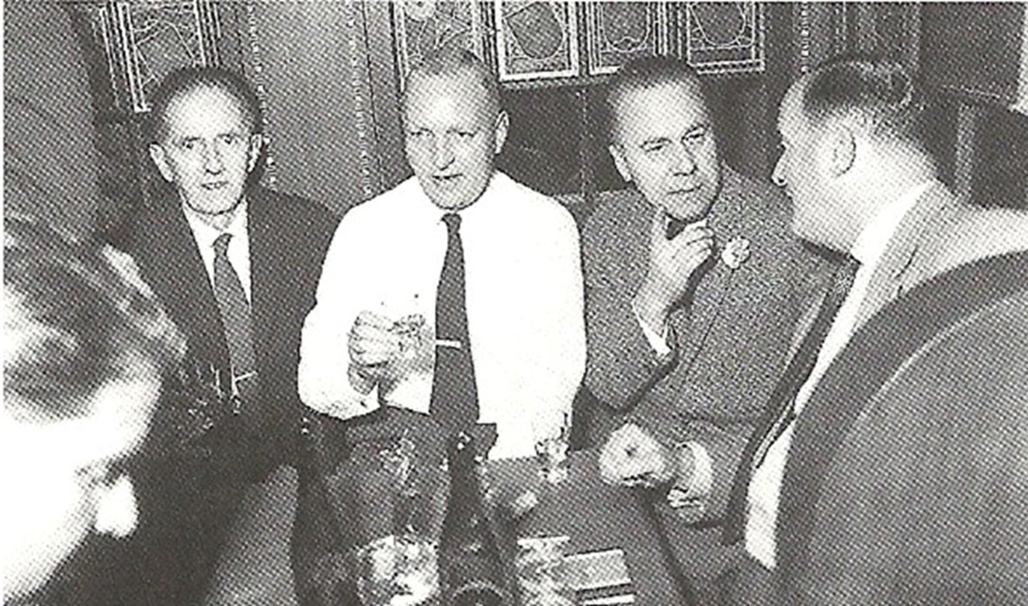 m Türmli v.l. Werner Geissberger, Ernst Disler, Peter Thurneysen, Hartmann F. Ammann,  Dr. Erich Schmitt