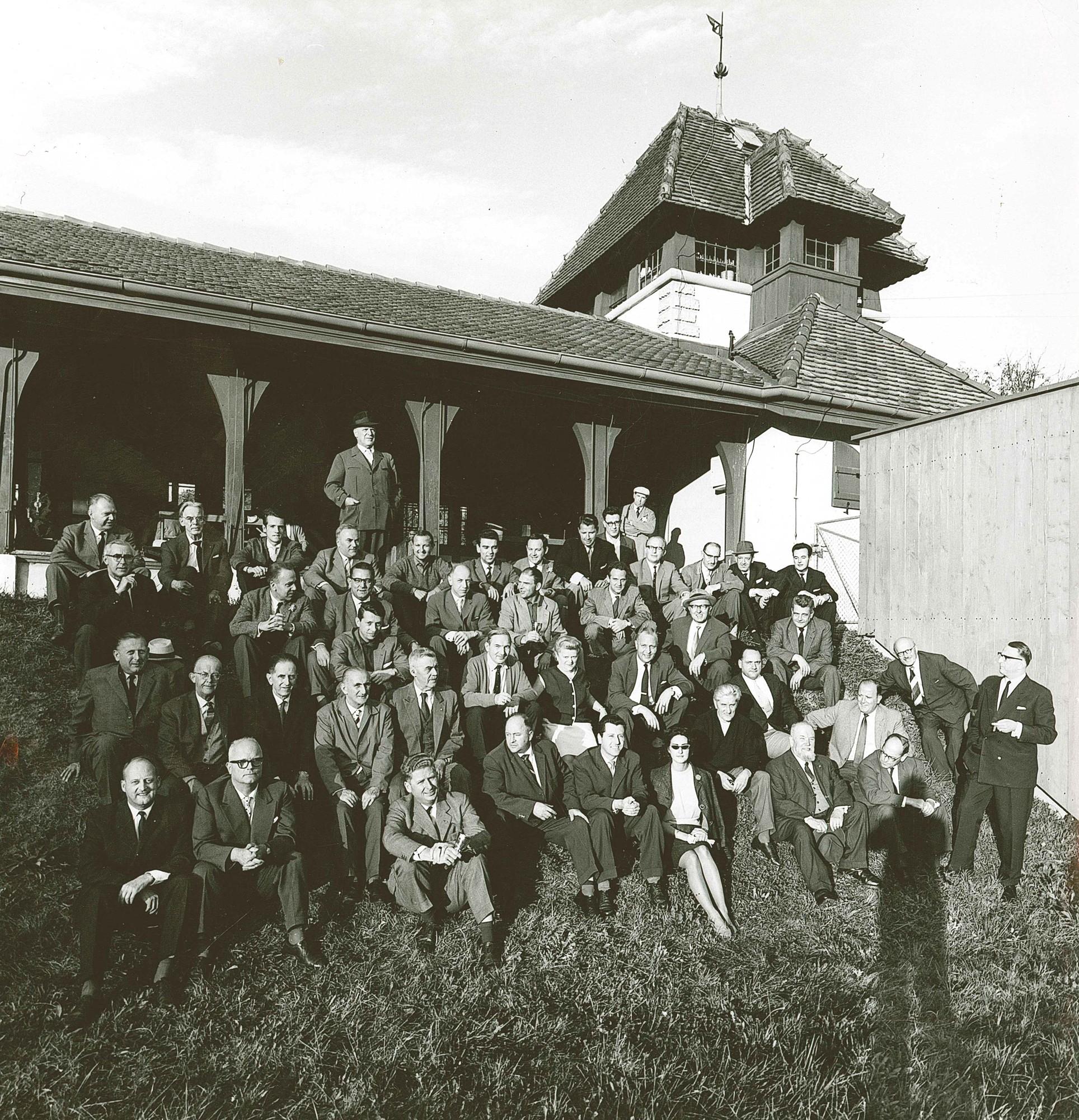 Endschiessen im Allschwilerweiher 1962