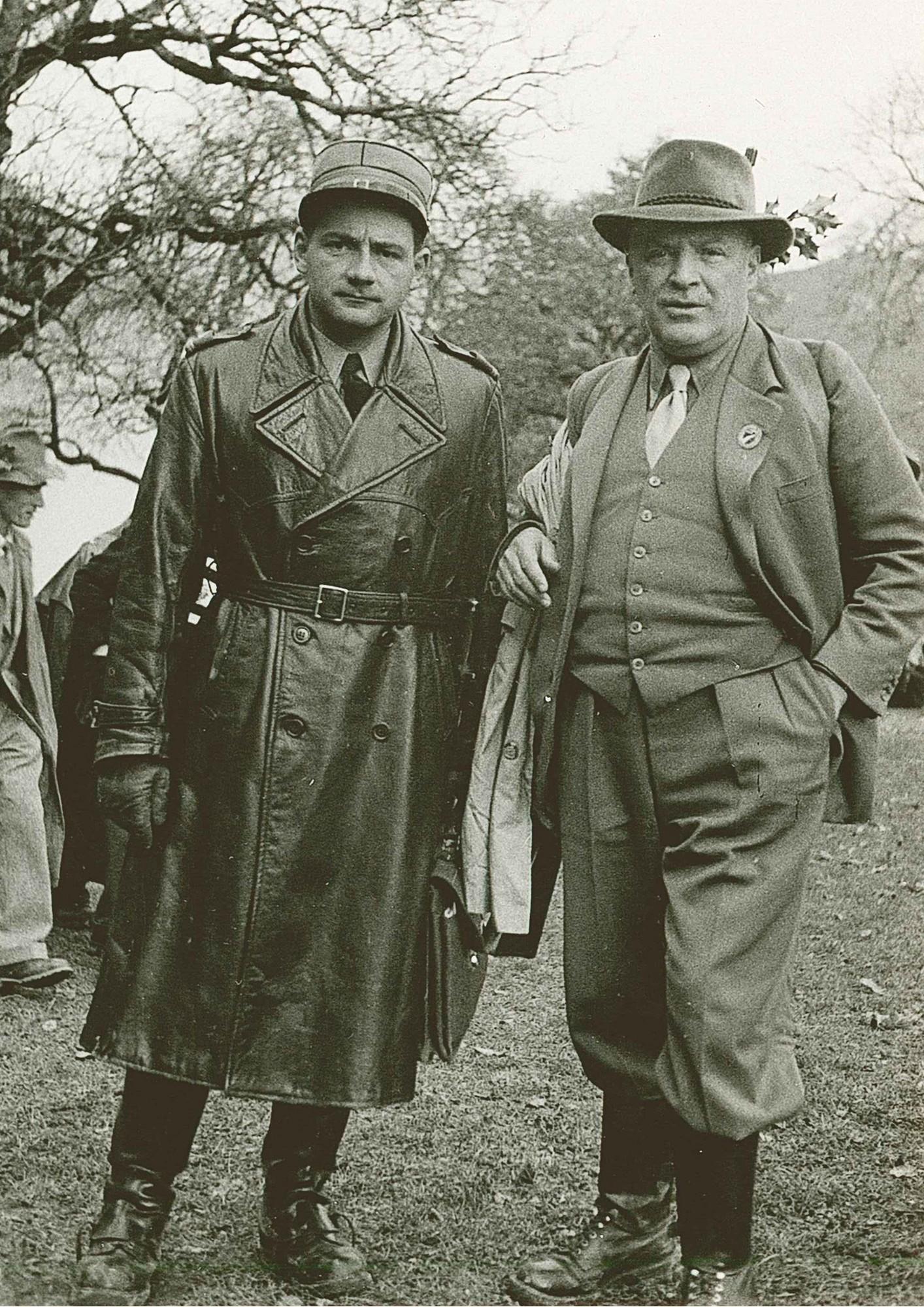 Rütli 1952 Vater und Sohn. Dr.h.c. Heinrich Küng und Dr. Heini Küng