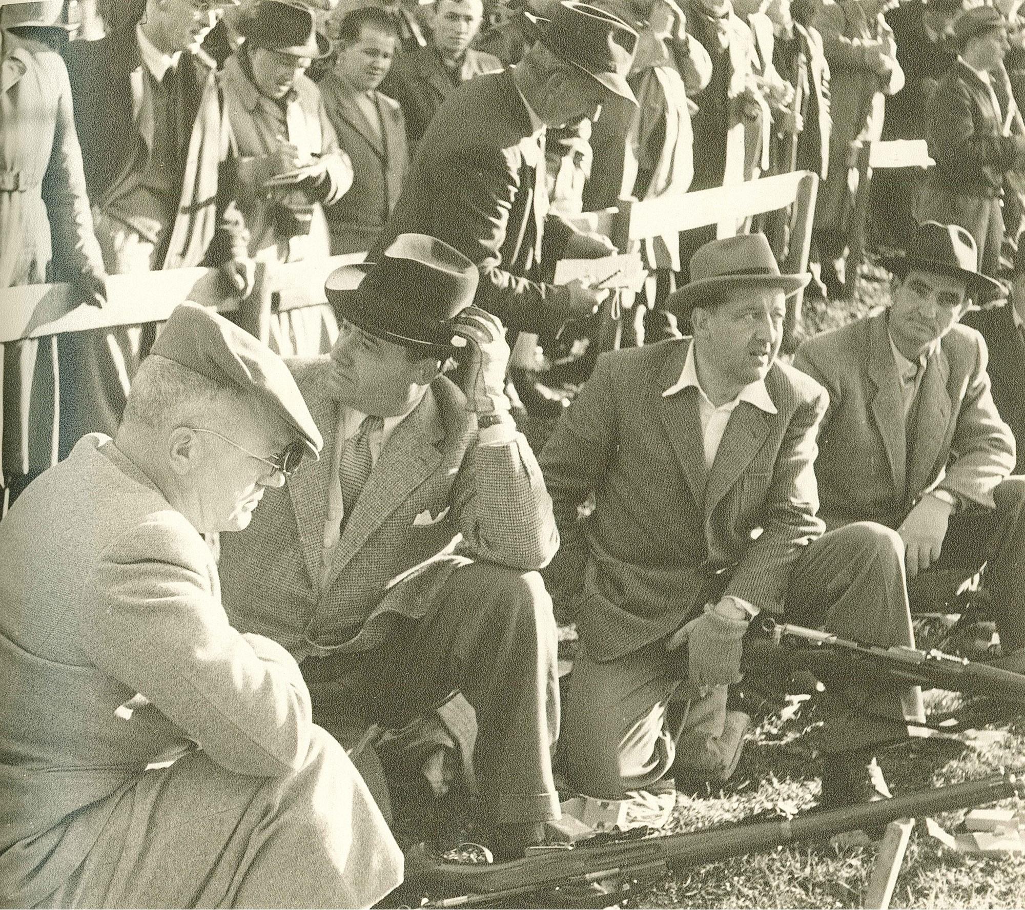Rütli 1952 v.l. Dr. Franz Huber, Kurt Girard, Rudolf Bürgin, Dr. Hermann Achten