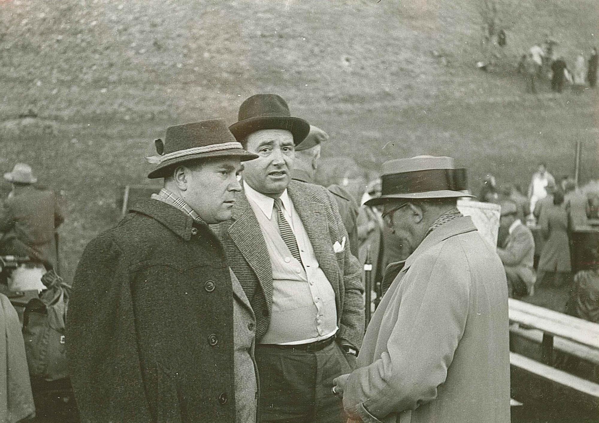 Rütli 1952 v.l. Ernst Lauer, Kurt Girard, Hans Vogt