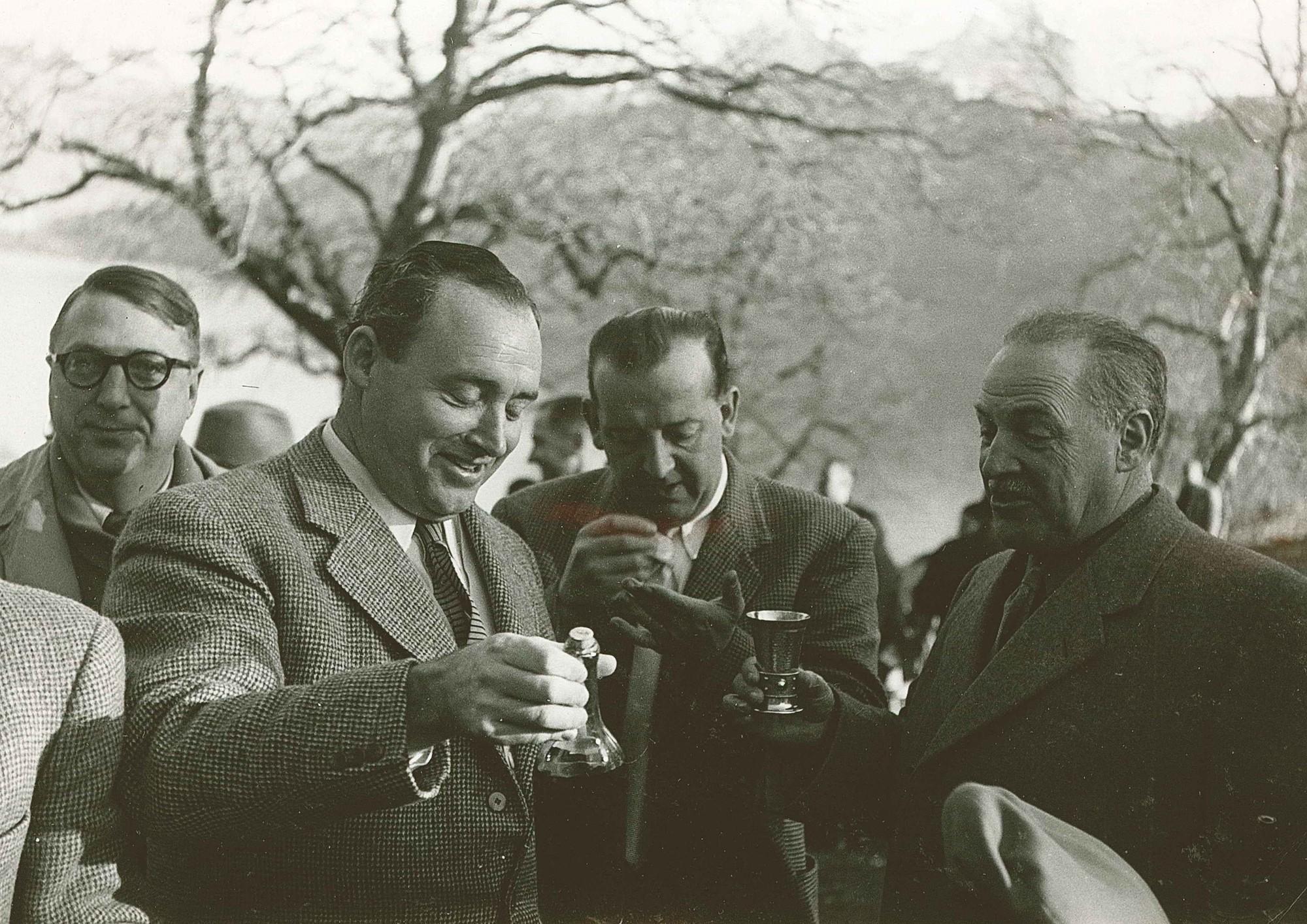 Rütli 1952 v.l. Dr. Adelbert Eckstein, Kurt Girard, Rudolf Bürgin, Dr.h.c. Heinrich Küng