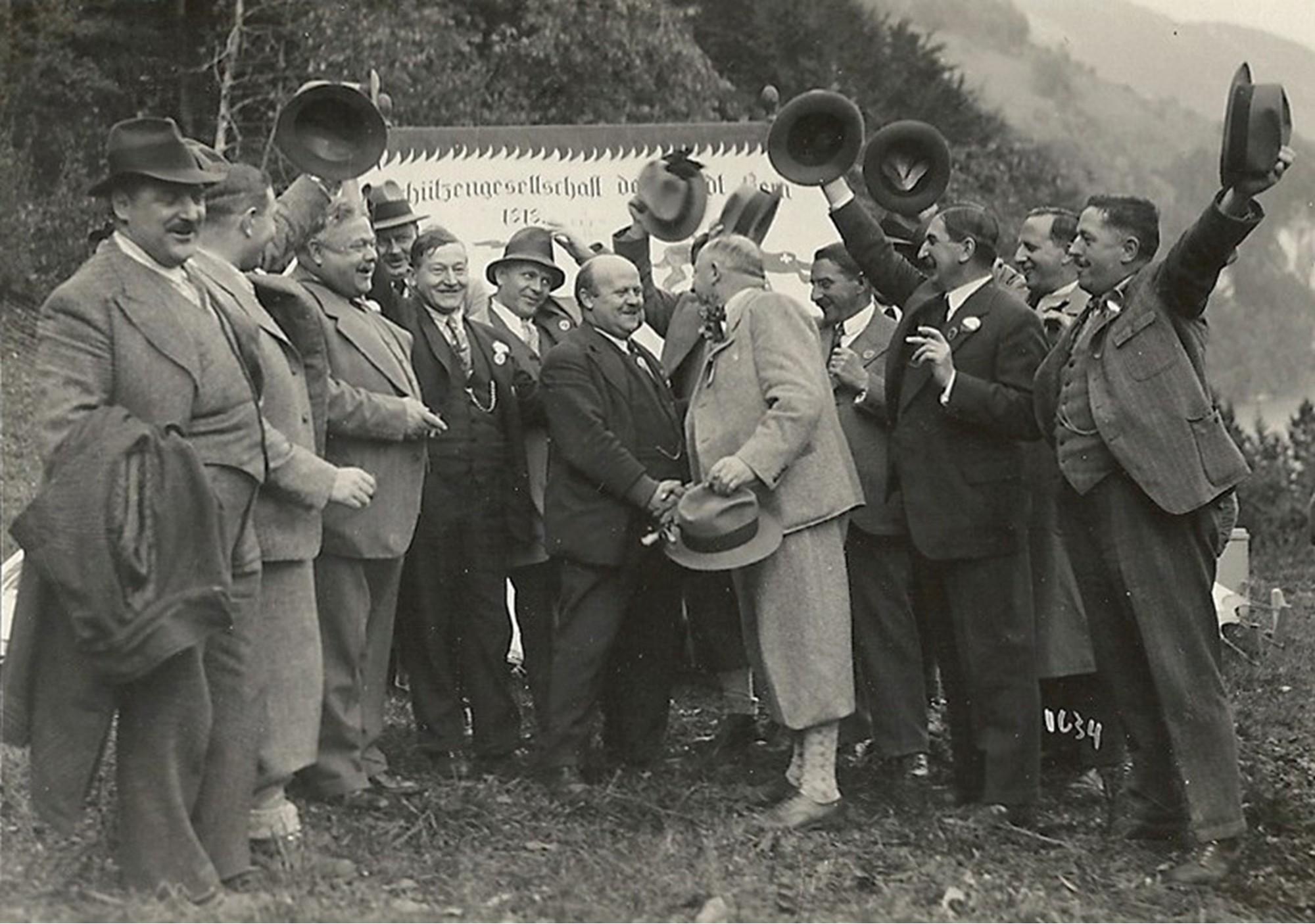 Die Feuerschützen am Rütlischiessen 1931
