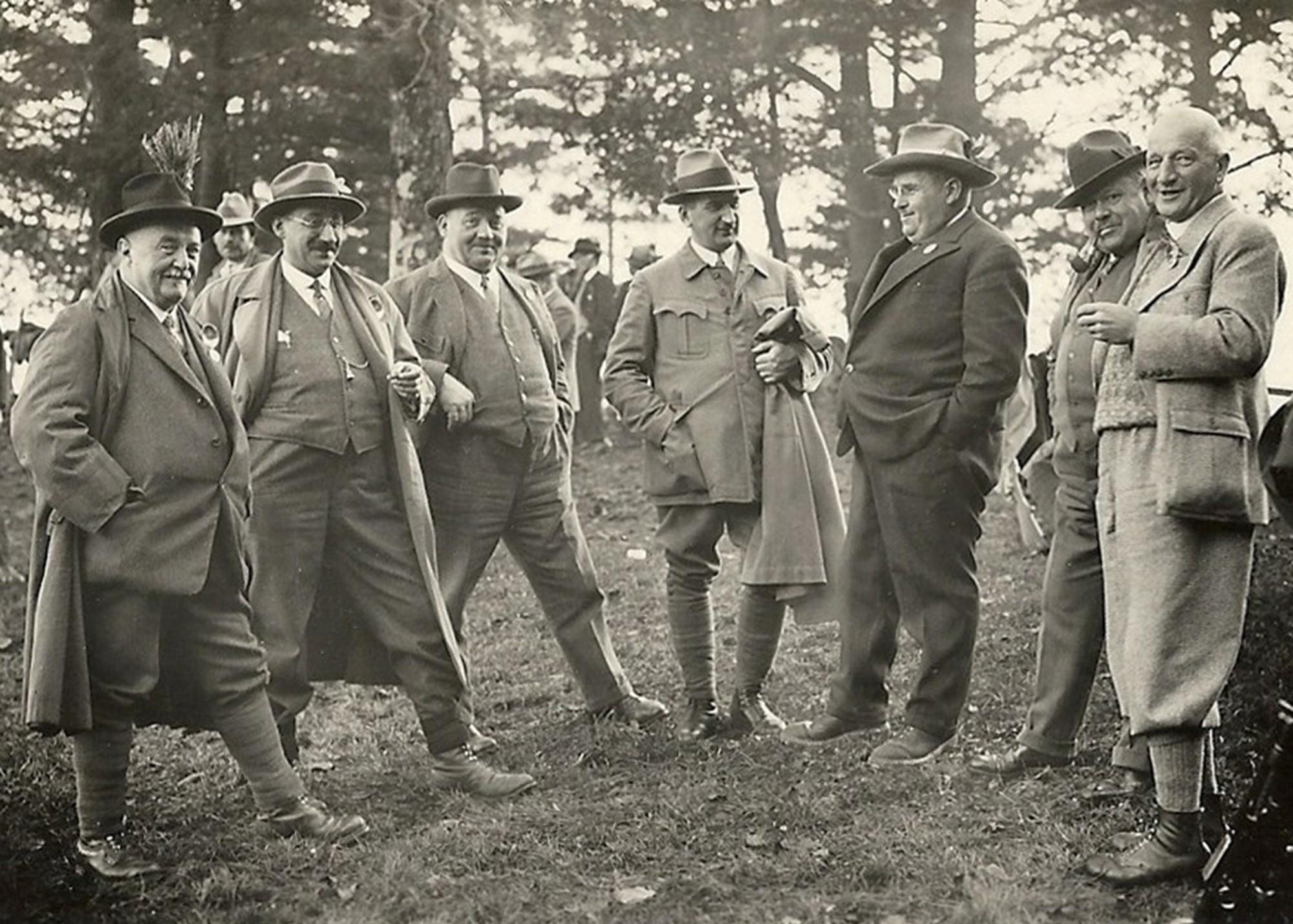 Die Feuerschützen am Rütlischiessen 1932