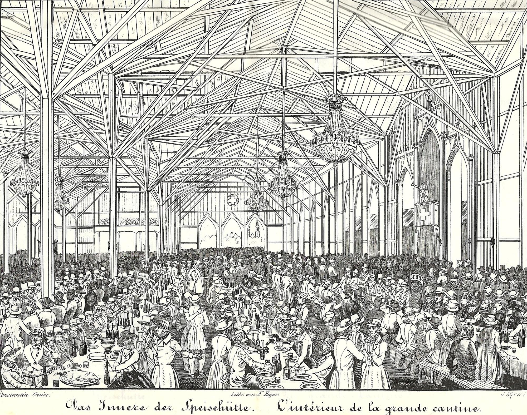 Eidg. Ehr- und Freischiessen 1844 in Basel