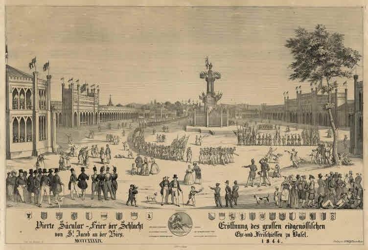 Eidg. Ehr- und Freischiessen 1844 in Basel bei St.Jakob