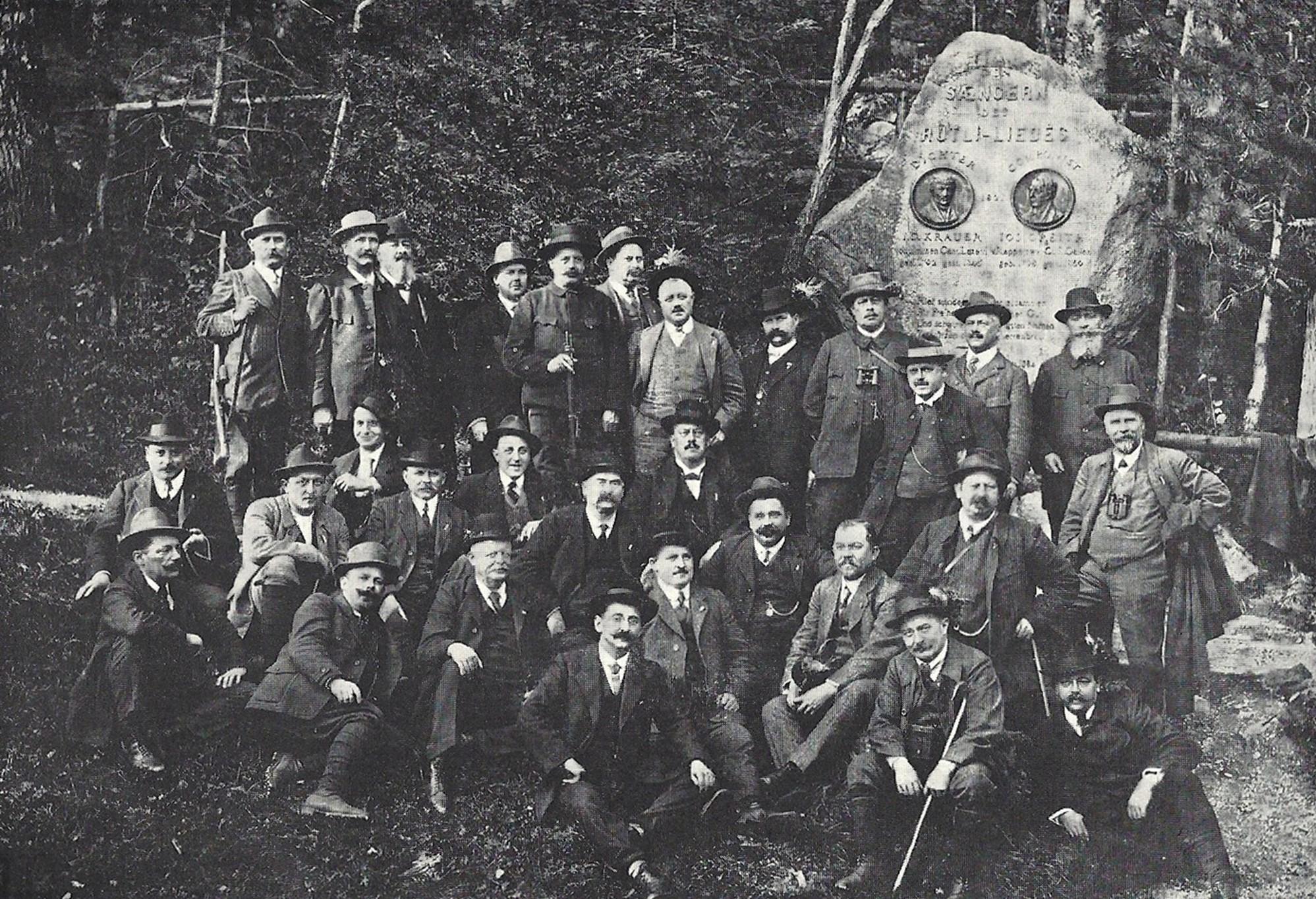 Die Feuerschützen erstmals am 300m-Rütlischiessen 1913