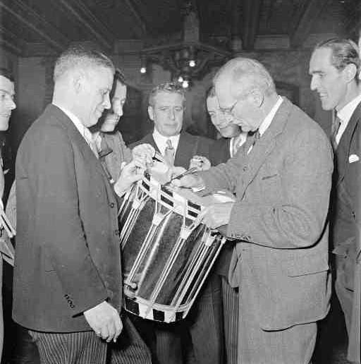 Empfang von Bernard Montgomery im Schützenhaus 1951