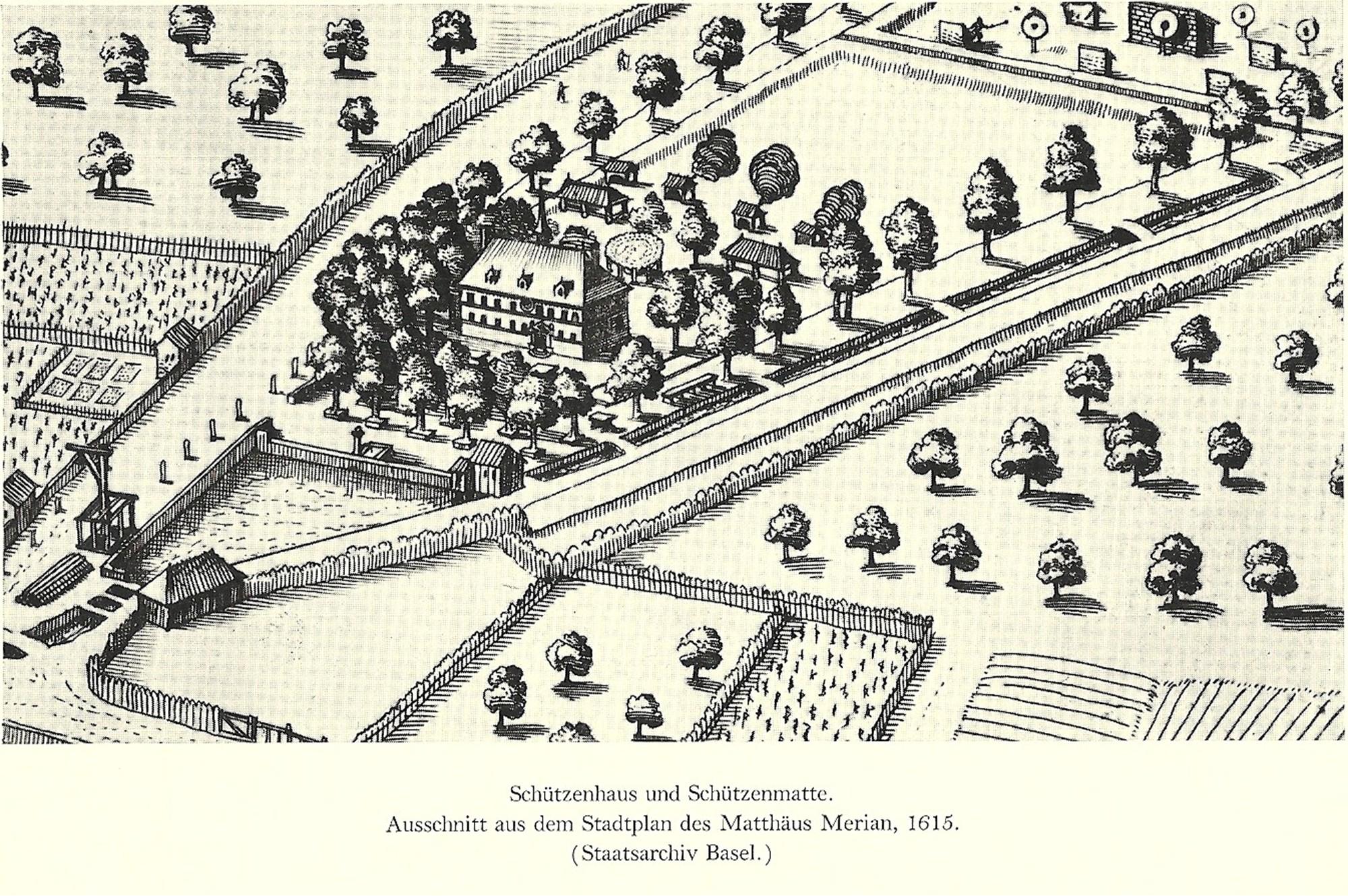 Historische Bilder Schützenhaus und Schützenmatte