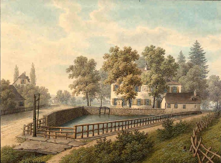 Schützenhaus und Teuchelweiher 1865