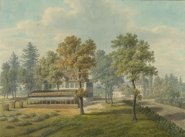 Schützenhaus mit Schiessstand 1868