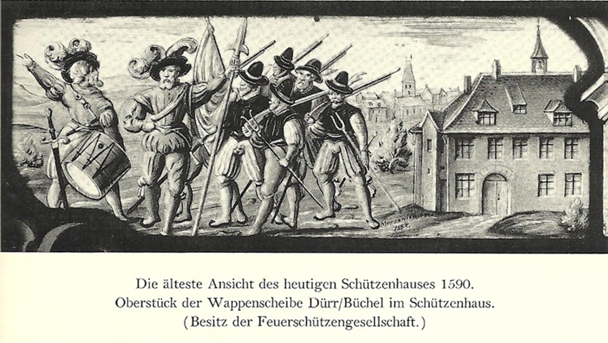 Schützenhaus um 1590
